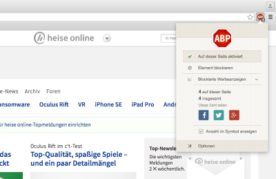 Adblock Plus in Chrome