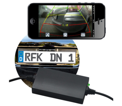 iphone einparkhilfe mit r ckfahrkamera mac i. Black Bedroom Furniture Sets. Home Design Ideas