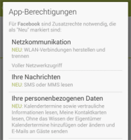 Bild zu: Facebooks Android-App fordert nach Update weitere Rechte ein | heise online