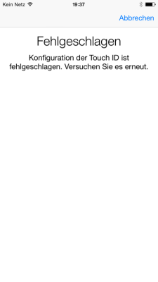 Touch ID-Sensor nach iOS 8.0.1-Update.