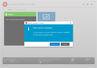 Lenovo Solution Center 3.x