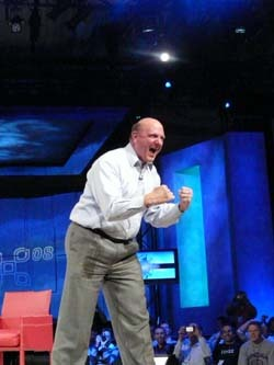 Steve Ballmer in Monkey-Pose