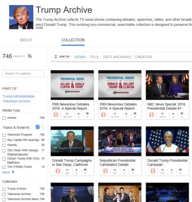 Internetarchive: Obamas Social Media vs. öffentliche Statements von Trump