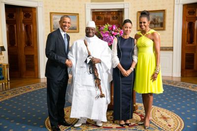 Herr Obama, Herr Jammeh, Frau Jammeh, Frau Obama