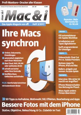 Mac & i Heft 3/2017: Titelbild …
