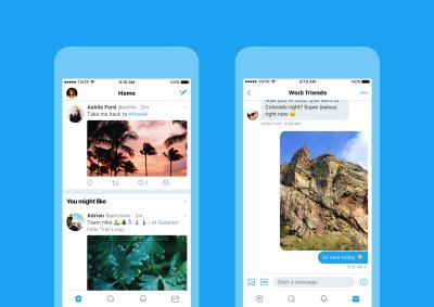 Twitter hat sich ein neues Design verpasst