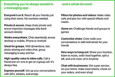 Ein Screenshot gibt Hinweise auf die Funktionen eines möglichen Amazon-Messengers