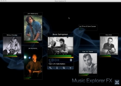 Screenshot des JavaFX Music Explorer