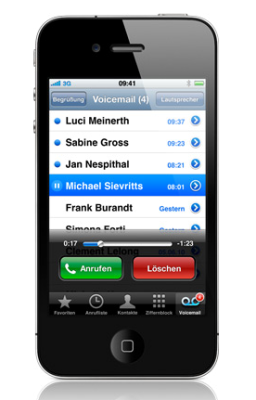 VISUAL VOICEMAIL IPHONE GEHT DIREKT RAN