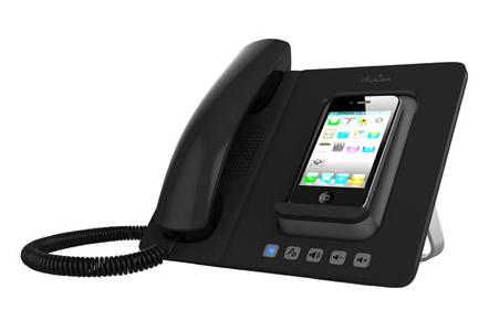 dock mit telefonh rer als iphone accessoire bild mac i. Black Bedroom Furniture Sets. Home Design Ideas