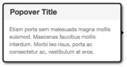 Screenshot: Mit Bootstrap realisiertes Popover
