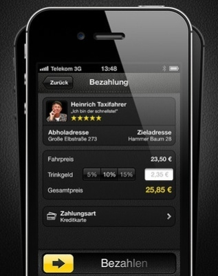 mytaxi app erh lt bezahlfunktion mac i. Black Bedroom Furniture Sets. Home Design Ideas