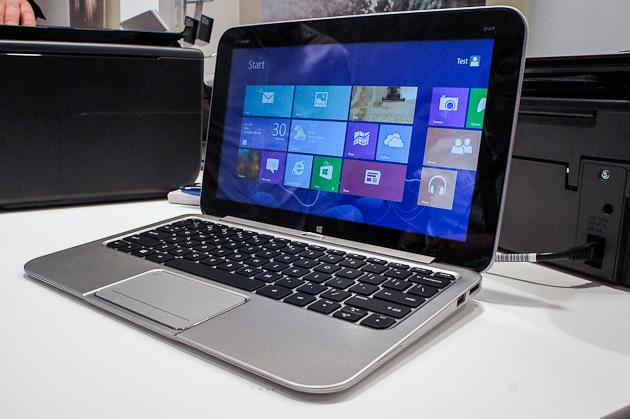 hp tablet und zwei touch notebooks mit windows 8 bild. Black Bedroom Furniture Sets. Home Design Ideas