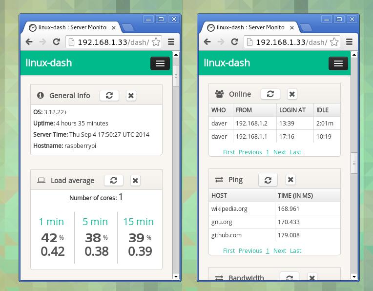 Toolbox: Linux Dash