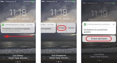 Stromsparmodus iOS schnell aktivieren