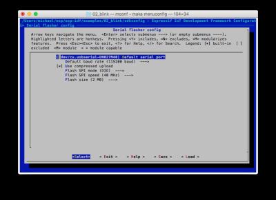 make menuconfig erlaub die Konfiguration der Systemparameter