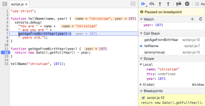 JavaScript-Debugging in Chrome: Kein Guesswork