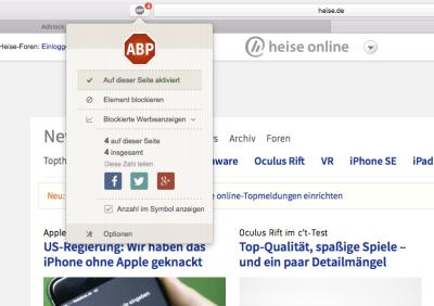 Adblocker auf heise online | heise online