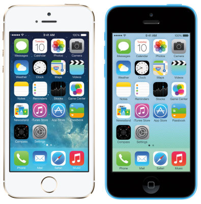iPhone 5s: top, iPhone 5c: Flop