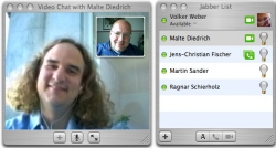 Google Talk mit Apples iChat
