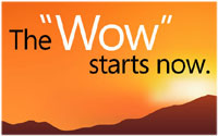 "The ""Wow"" starts now [200 x 125 Pixel @ 8,5 KB]"