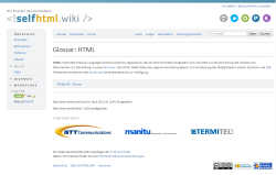 SelfHTML wird 20
