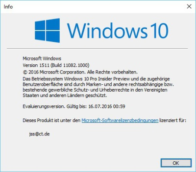 Windows 10: Insider-Vorabversion Build 11082 ist da