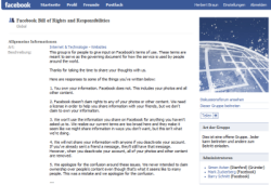 "Facebooks ""Bill of Rights""-Gruppe"