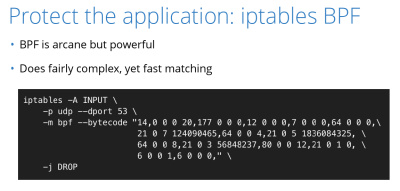 Linux-Firewall iptables mit BPF-Modul