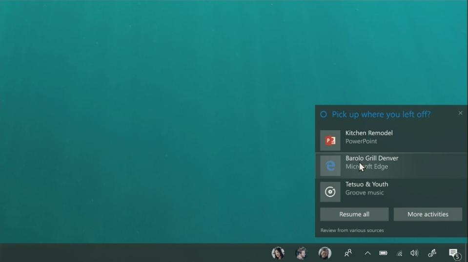 Cortana ist in das neue Clipboard integriert und kann Nutzern Inhalte intelligent anbieten.