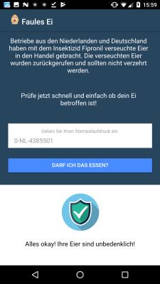 """Faules Ei""-App soll Insektizid-Eier erkennen"