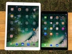 Die im Juni neu eingeführten iPad-Pro-Modelle. Das große 12,9-Zoll-Modell ist äußerlich vom Vorgänger nicht zu unterscheiden.
