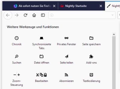 Die neuen Firefox-Icons.