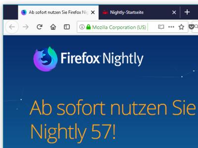 Die Tabs von Firefox werden eckig und liegen auf einer dunklen Leiste. Als Alternative gibt es ein helles Theme (Light).