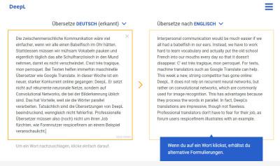 DeepL fordert Google Translate heraus.