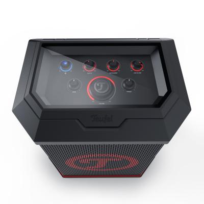 Der Rockster Air kostet und wiegt gut die Hälfte des großen Bruders. Wie die große, lässt sich auch die Air-Box per XLR-Kabel mit weiteren Rockstern koppeln und dank 35mm-Flansch auf Stativen montieren.