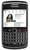 Der Lotus-Connections-Client auf einem BlackBerry Bold 9700