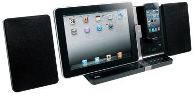 hifi anlage mit ipad und iphone dock mac i. Black Bedroom Furniture Sets. Home Design Ideas