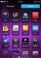 Balance in Blackberry 10